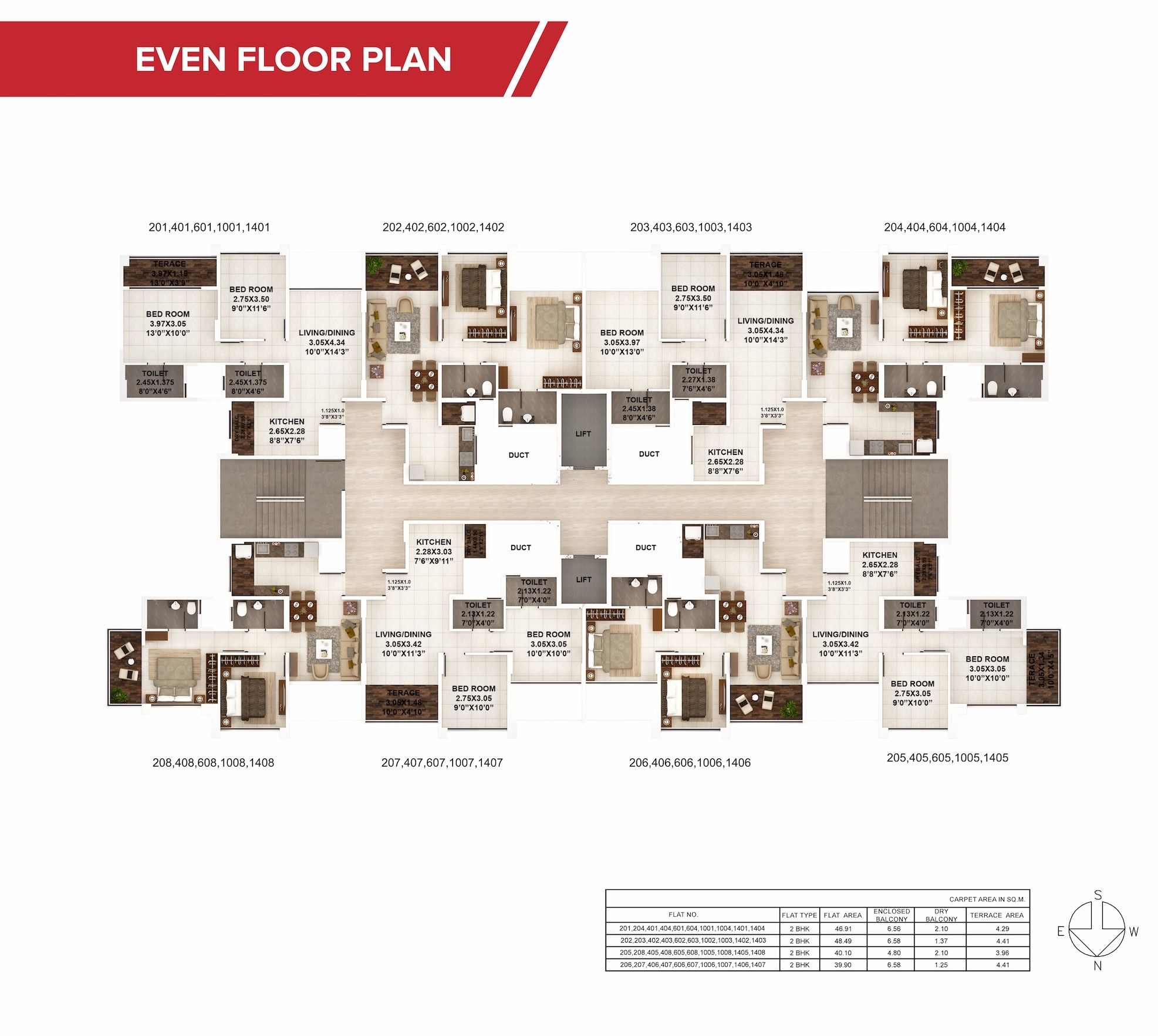 KPP khushi Even Floor Plan