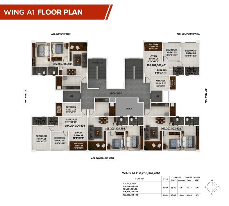 Palaash-A1 floor plan