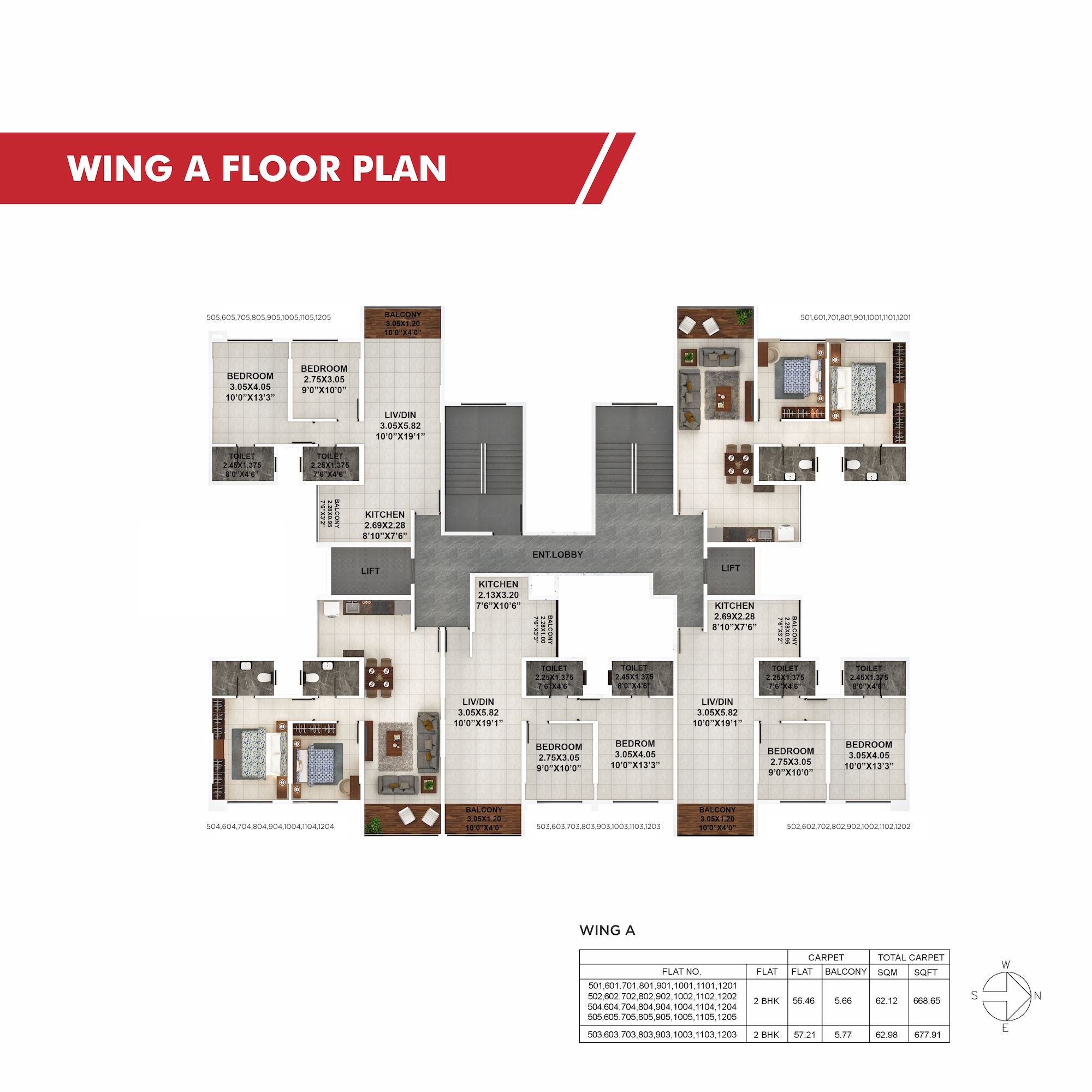 Palaash Wing A Floor Plan