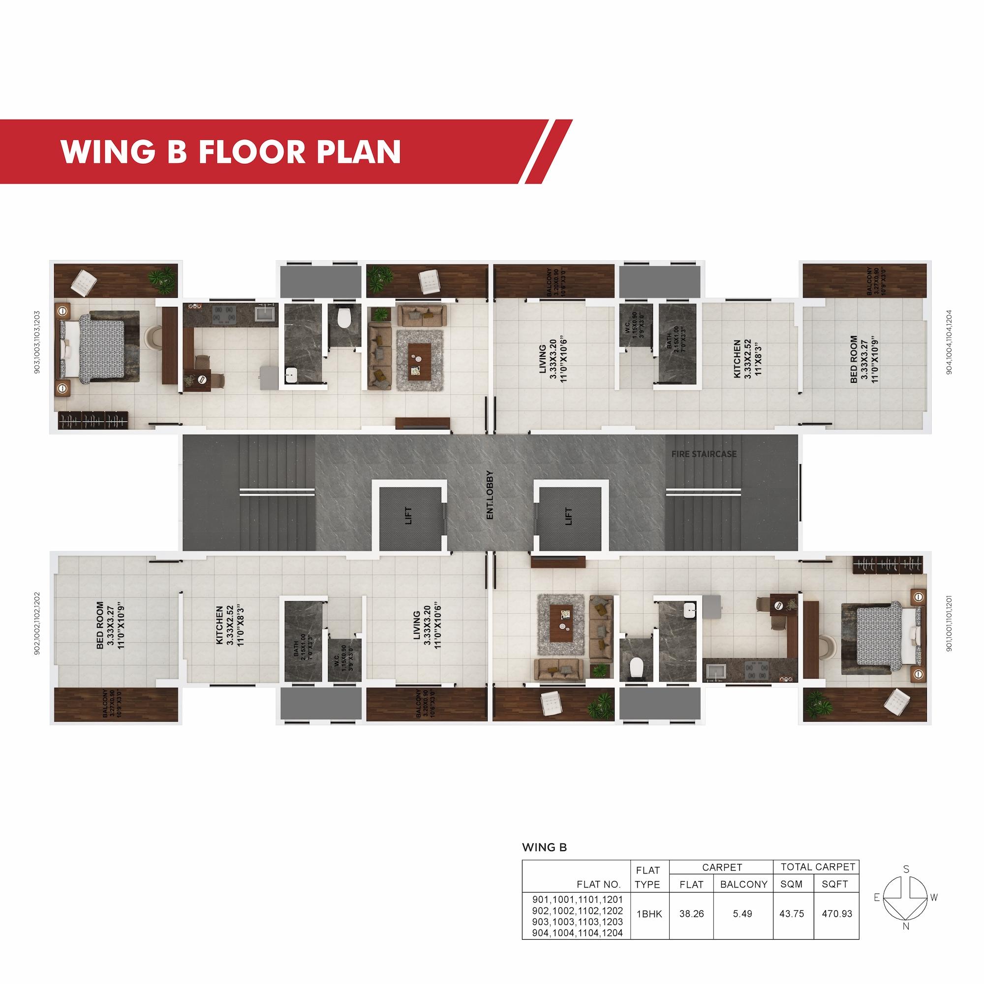 Palaash Wing B Floor Plan