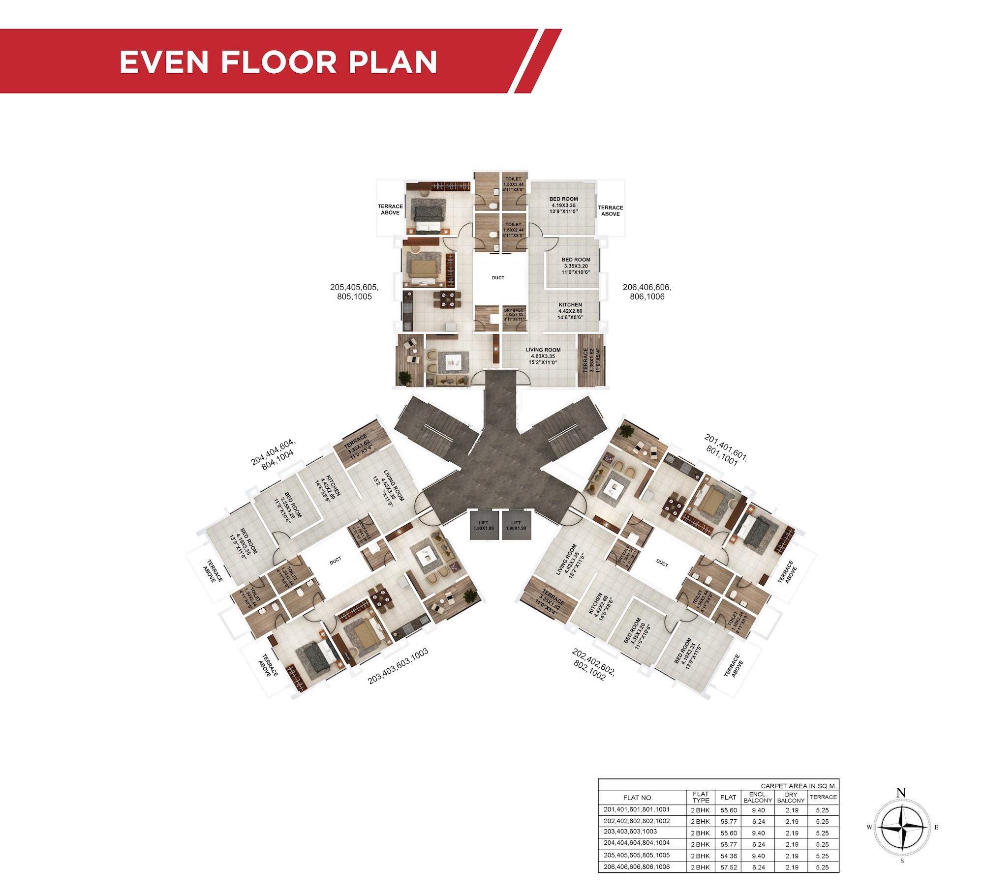 Palmcrest Even Floor Plan