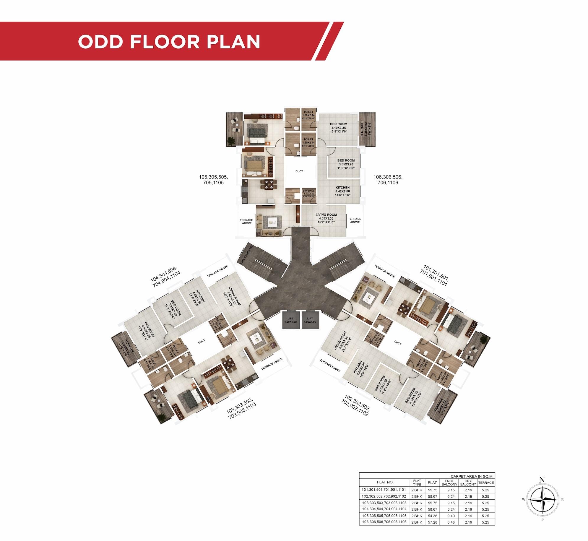 Palmcrest Odd Floor Plan