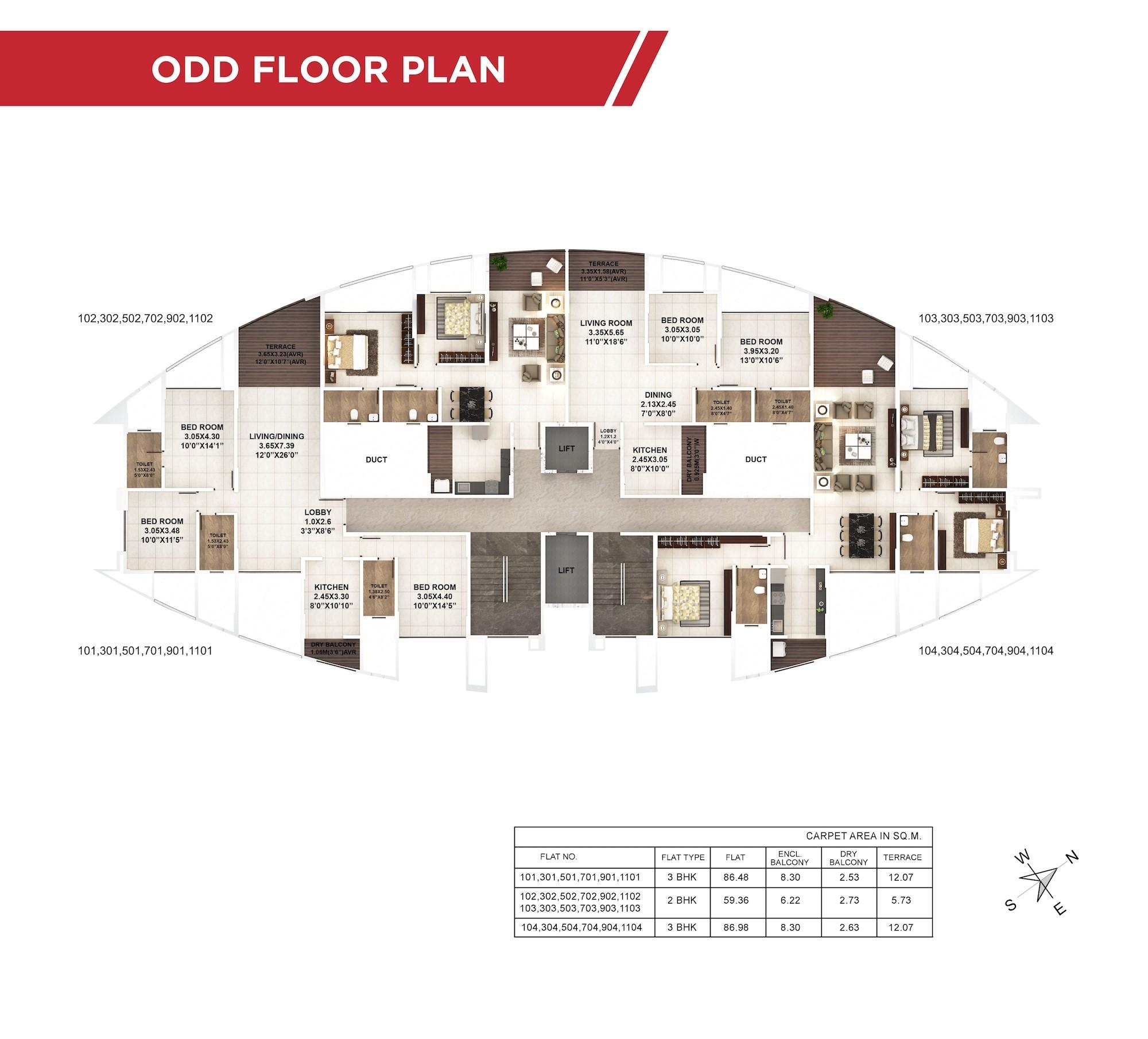 Papillon Odd Floor Plan