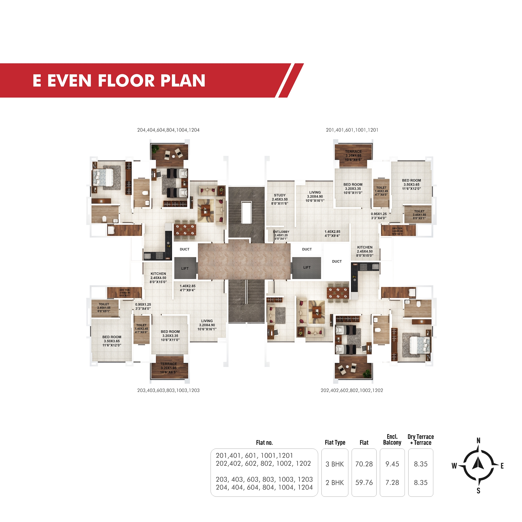 Piccadilly E Even Floor Plan