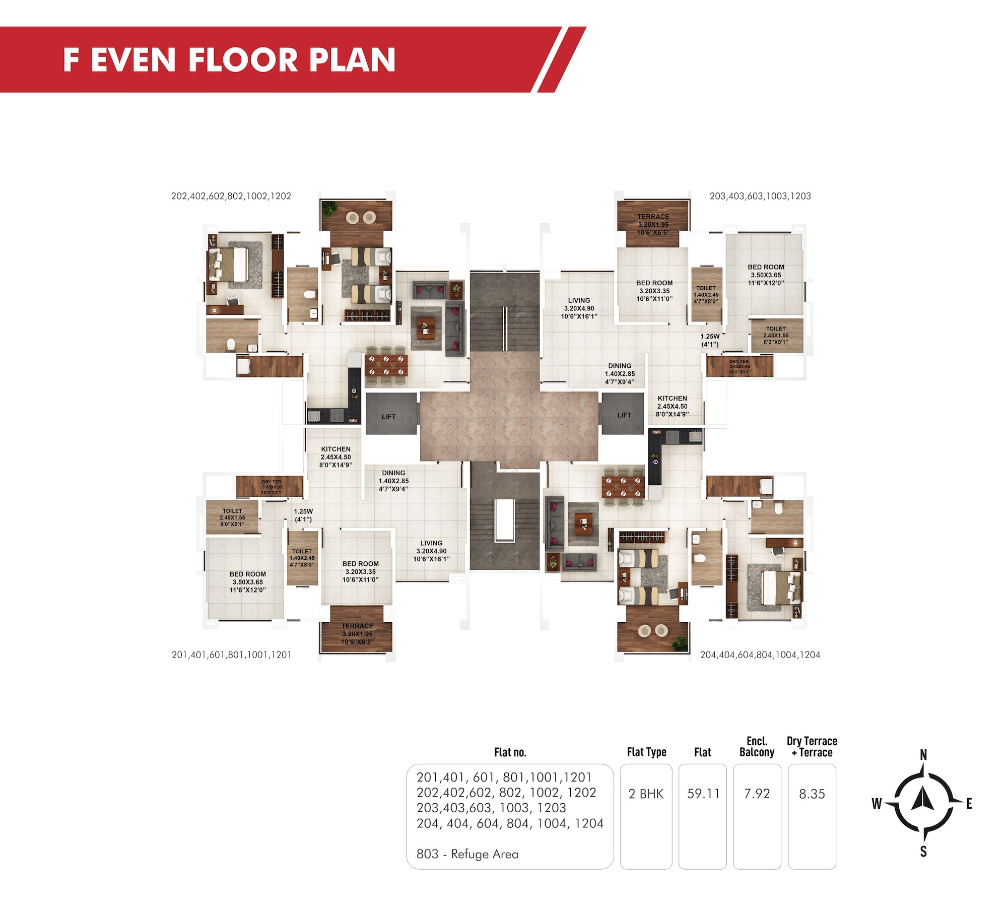 Piccadilly F Even Floor Plan
