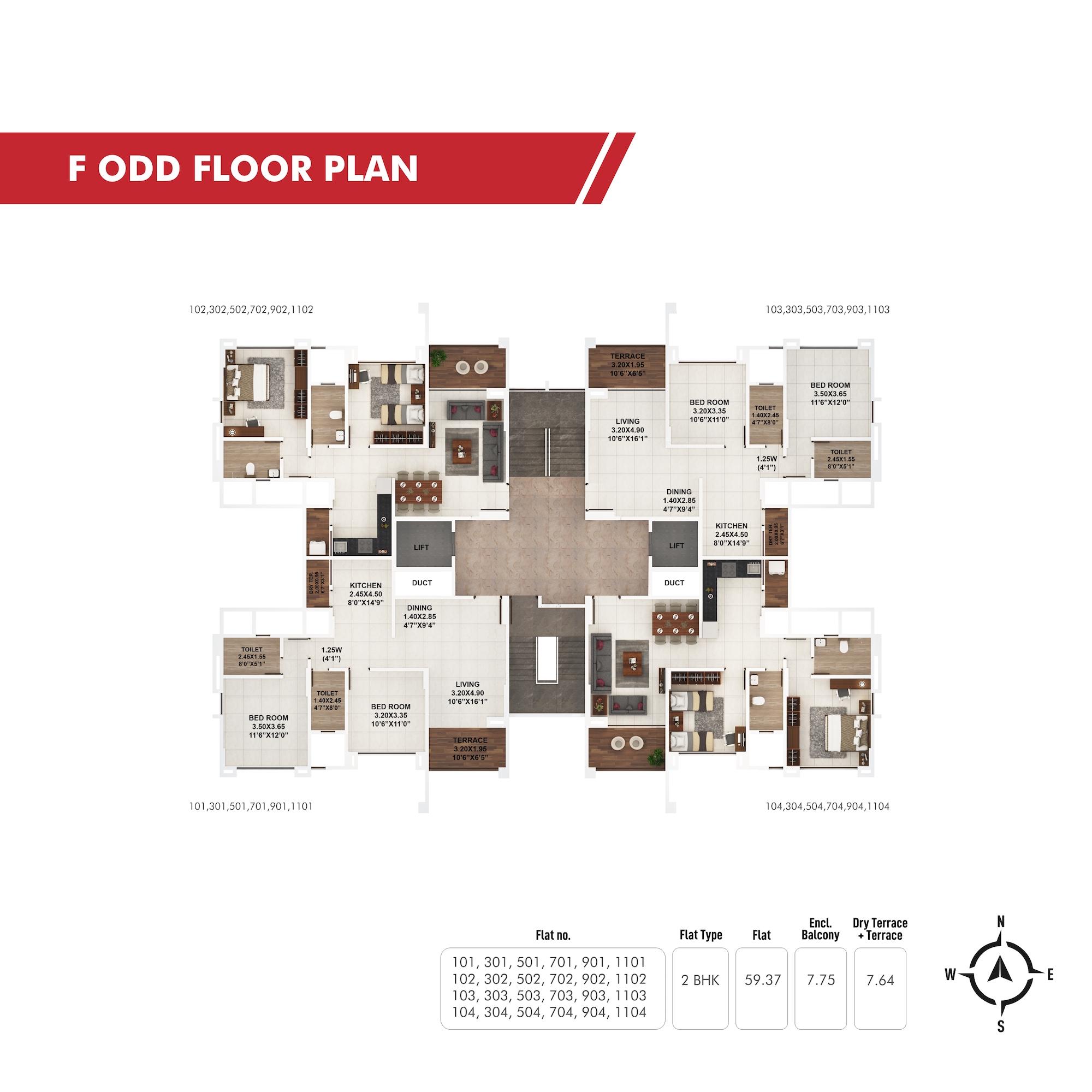 Piccadilly F Odd Floor Plan