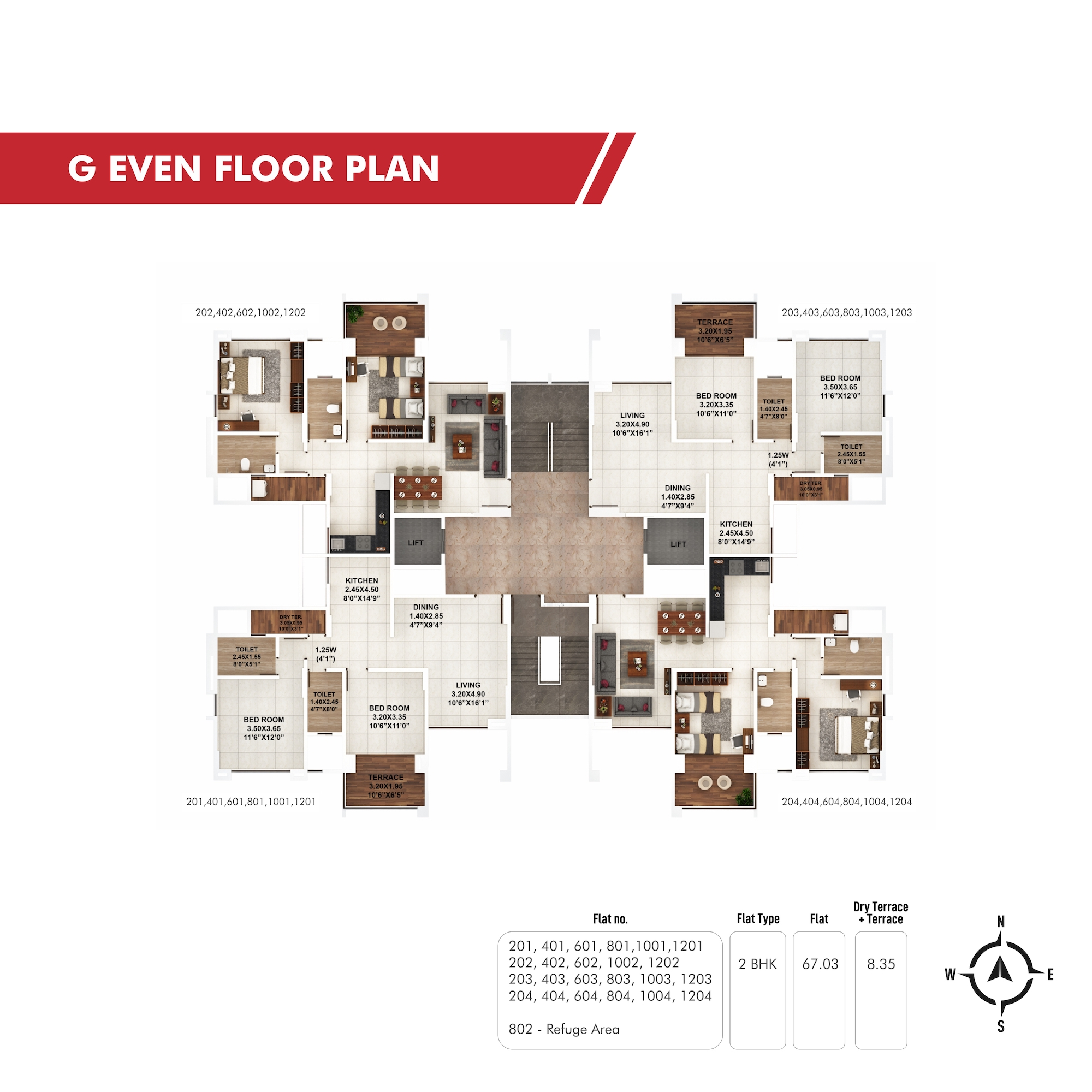 Piccadilly G Even Floor Plan