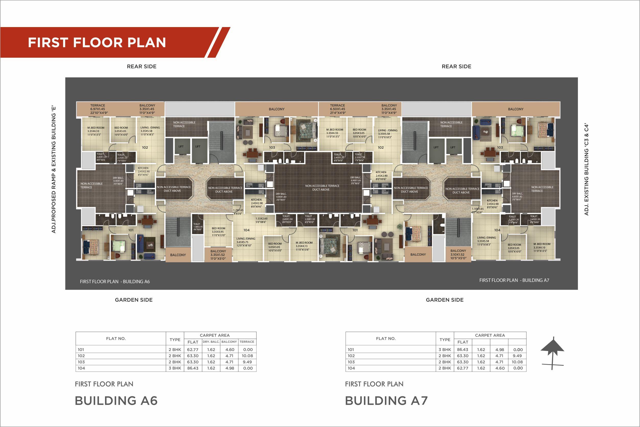 Revised K-samruddhi First floor plan white color